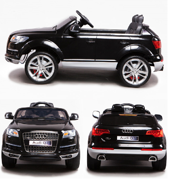 kinder auto audi q7 schwarz von kid kid cars. Black Bedroom Furniture Sets. Home Design Ideas